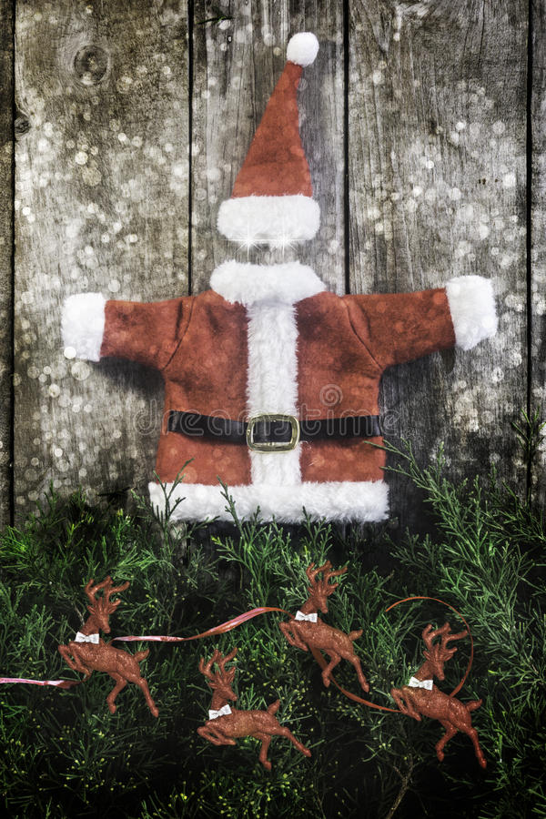 Rivestimento e cappello di Santa Claus immagine stock