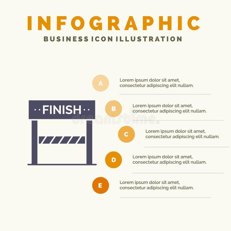 Rivestimento, linea, sport, fondo solido di presentazione di punti di Infographics 5 dell'icona del gioco royalty illustrazione gratis