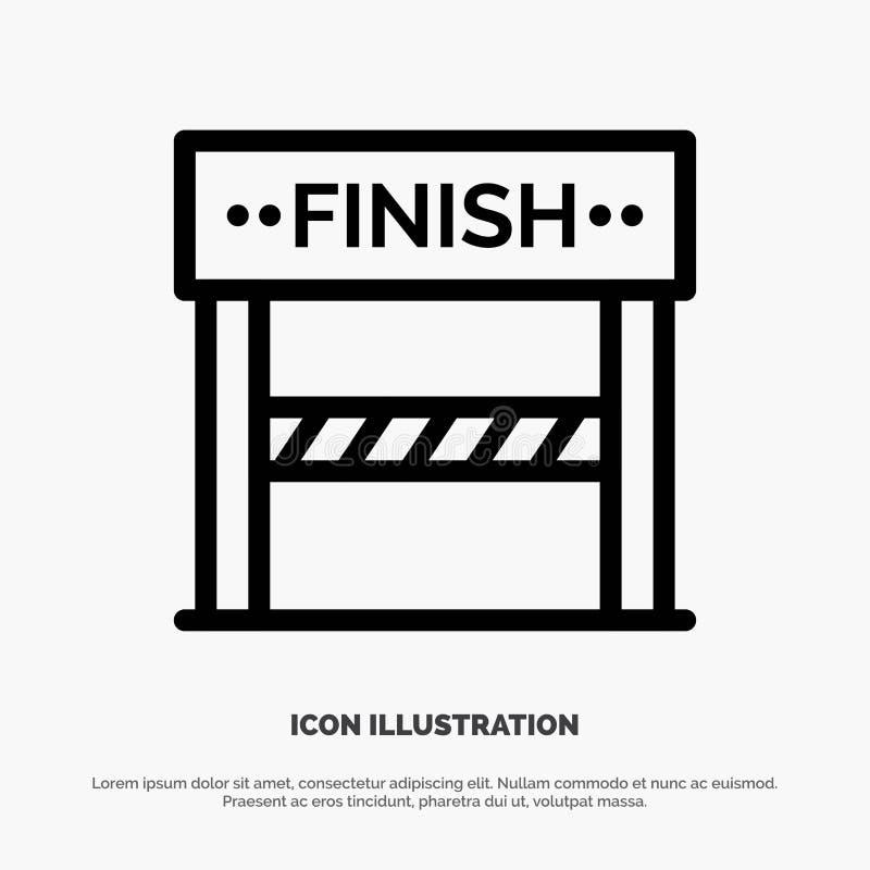 Rivestimento, linea, sport, linea vettore del gioco dell'icona illustrazione vettoriale