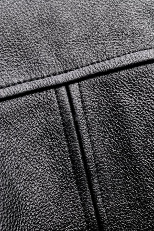 Rivestimento nero di Leahter immagine stock libera da diritti