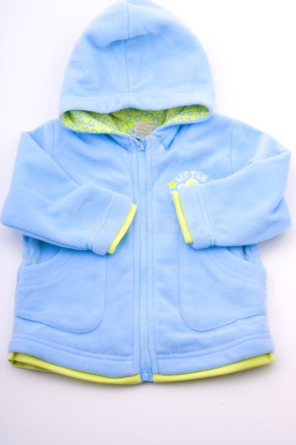 Rivestimento piacevole blu del bambino immagine stock