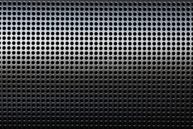 Rivestimento protettivo mertal nero della griglia di precisione fotografia stock