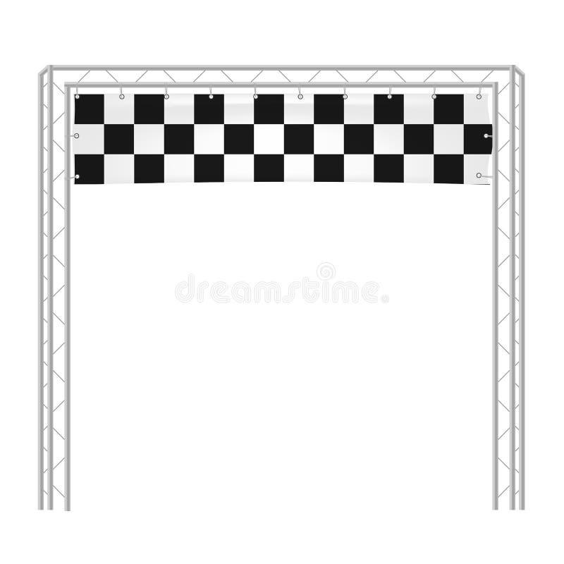 Rivestimento a quadretti di inizio di funzionamento dell'illustrazione di vettore delle insegne royalty illustrazione gratis