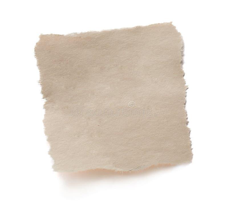 rivet blankt gammalt papper arkivbilder
