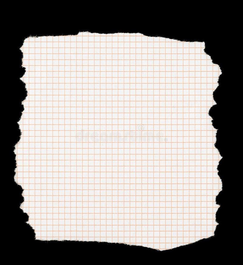 rivet paper stycke som kvadreras arkivfoto