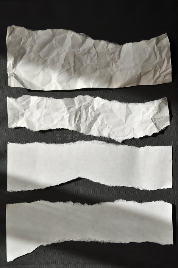 rivet papper arkivbild