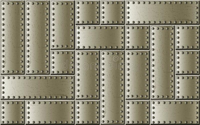 Riveted steel rivets and screws metal background stock photography