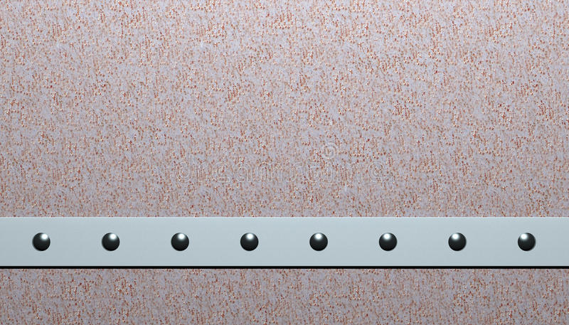 Rivets. In aluminum and steel royalty free illustration