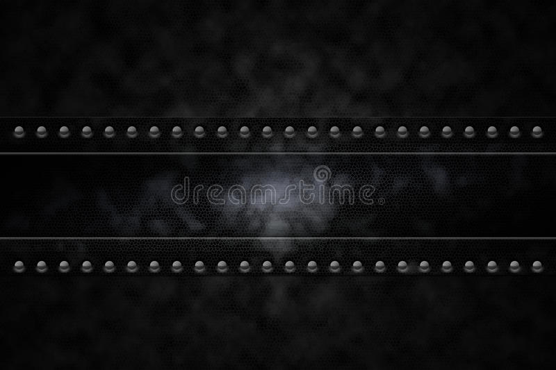Rivets in background. Rivets in black leather lookalike background royalty free illustration