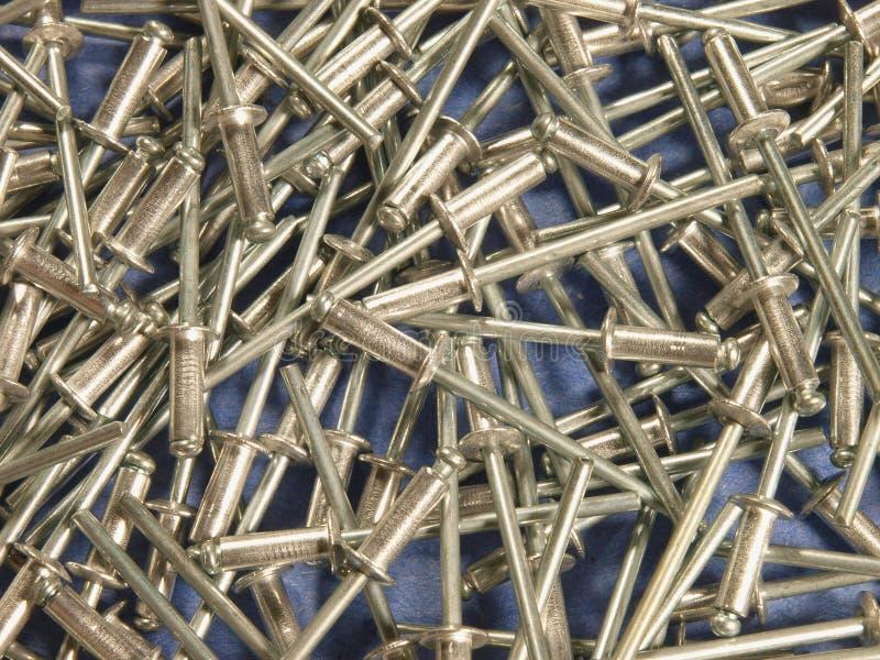 Rivets close up stock photos