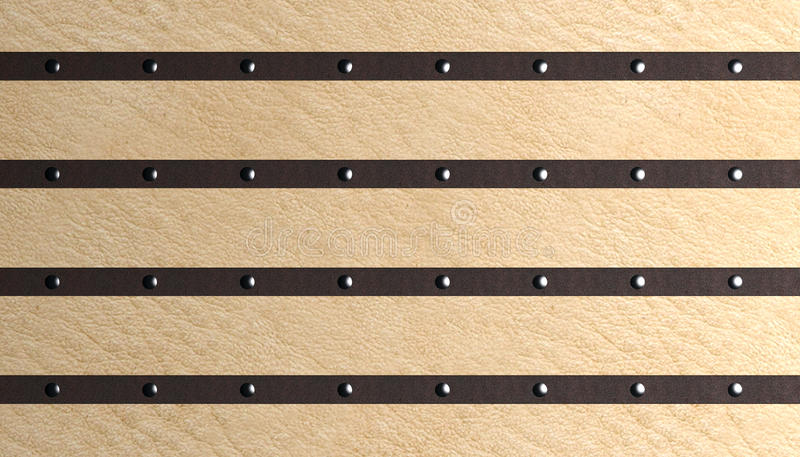 Rivets. In leather on leather vector illustration