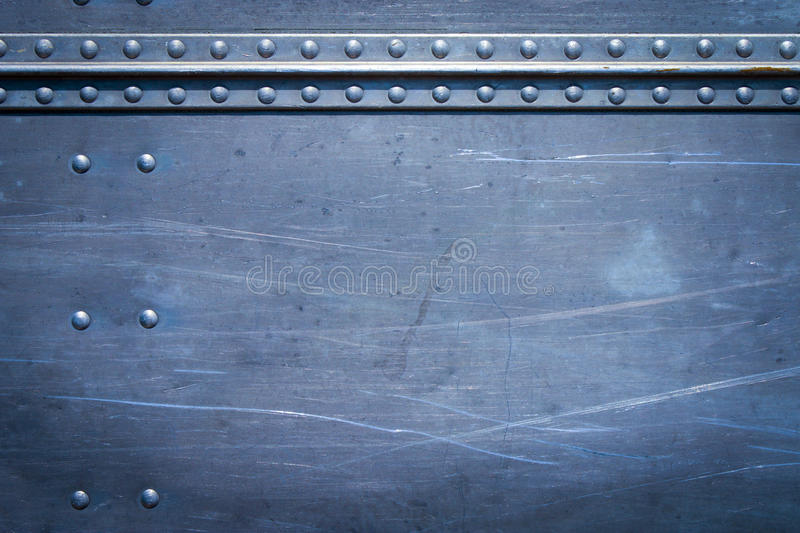 Rivets on metal stock image
