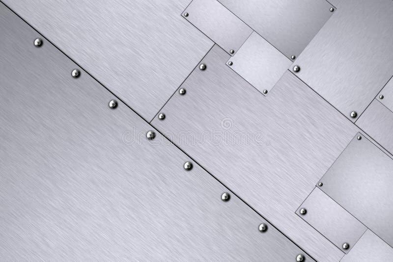 Rivets in steel. Rivets in sheets of steel royalty free illustration