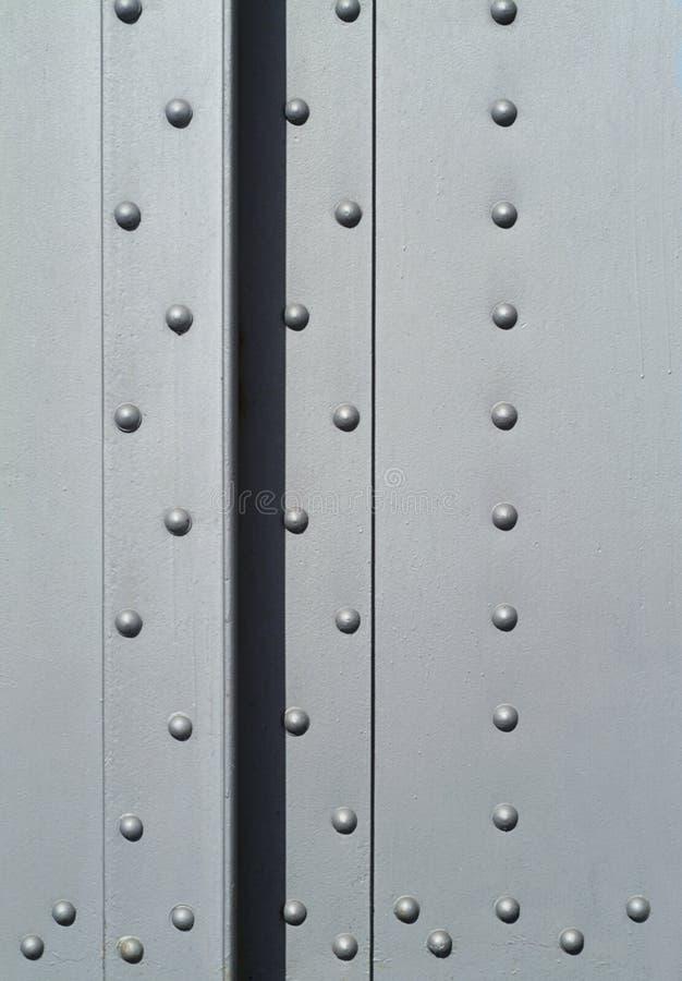 Rivets in a steel girder stock photos