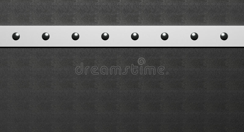 Rivets. In steel on leather vector illustration