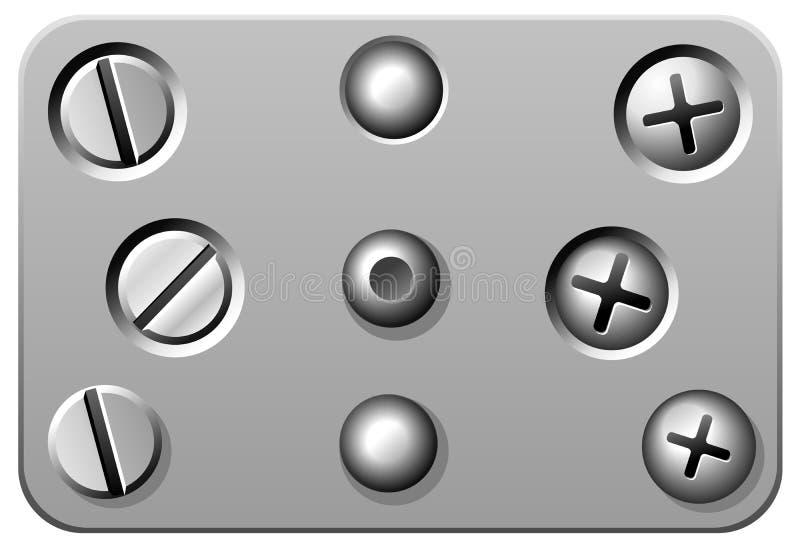 rivetsskruvar vektor illustrationer