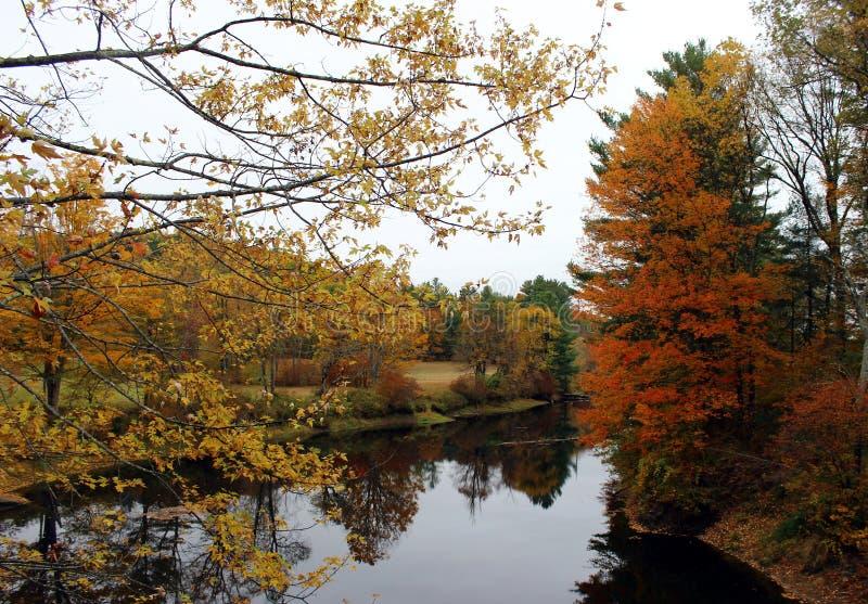Rivière Ashuelot à Winchester, New Hampshire photos stock