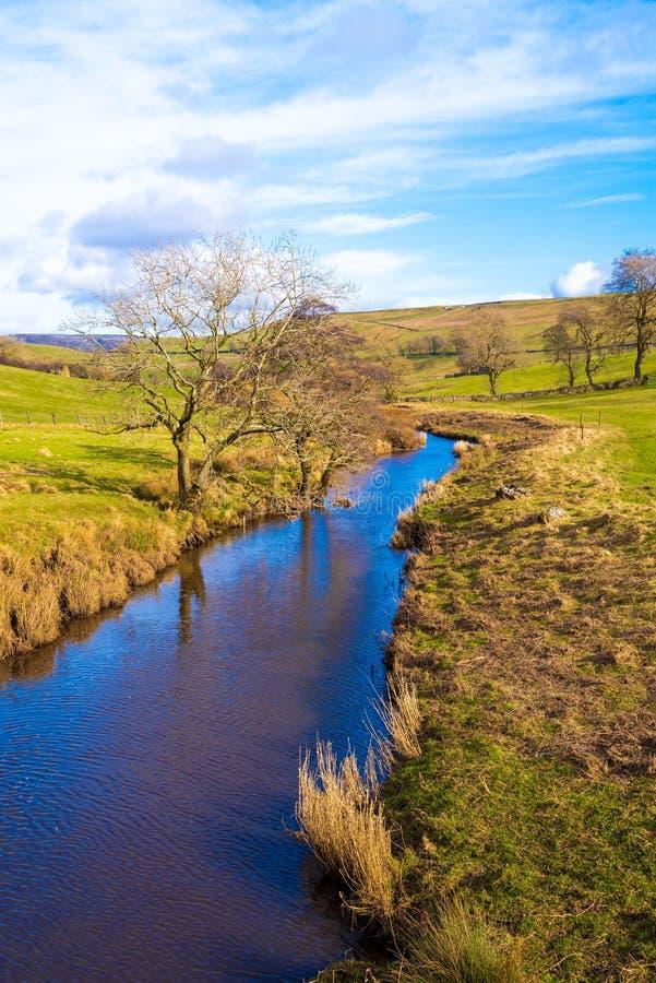 Rivière Bain North Yorkshire photos libres de droits