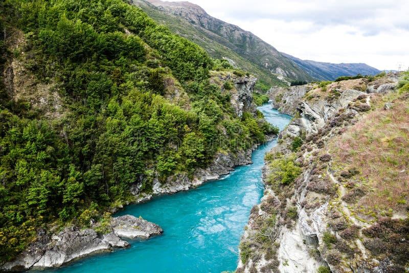 Rivière bleue au Nouvelle-Zélande photo libre de droits