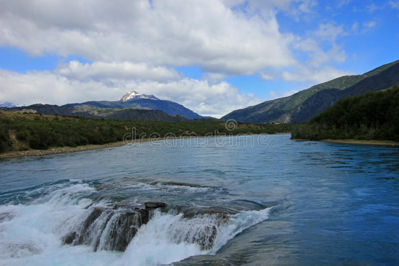 Rivière bleue profonde de Baker, Chili photos libres de droits