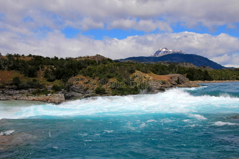 Rivière bleue profonde de Baker, Chili photo stock
