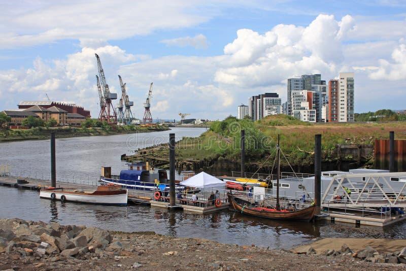 Rivière Clyde, Glasgow photographie stock