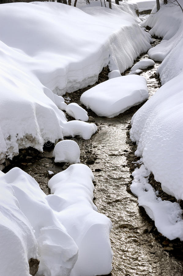 Rivière congelée images libres de droits
