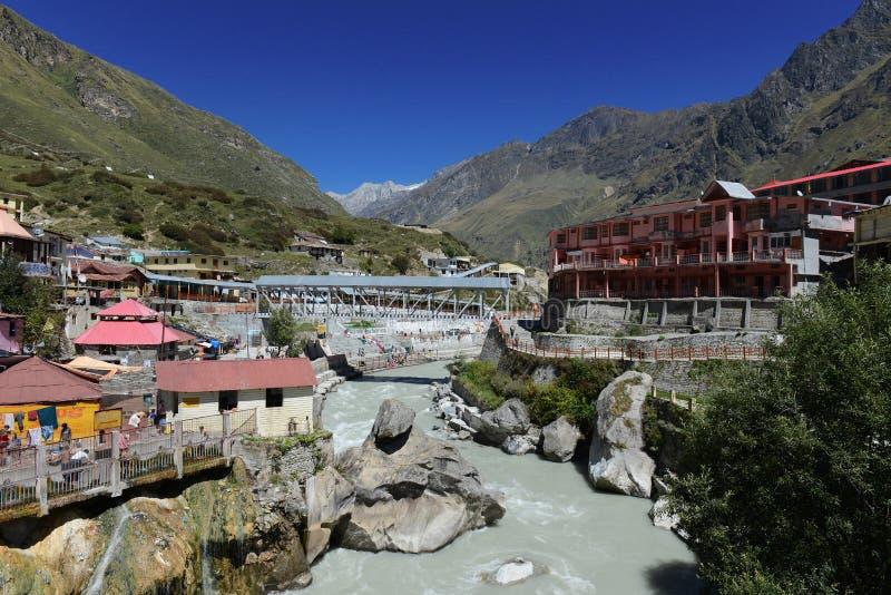 Rivière d'Alkananda chez Badrinath image libre de droits