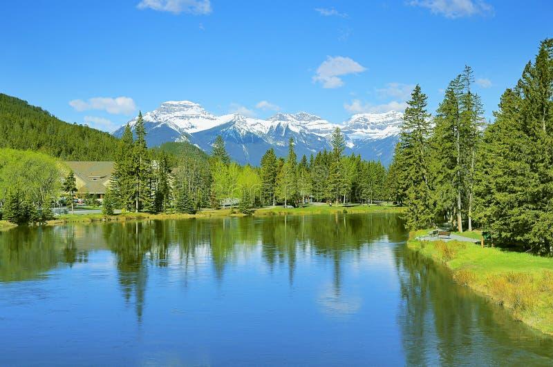 Rivière d'arc en parc national de Bamff photographie stock libre de droits