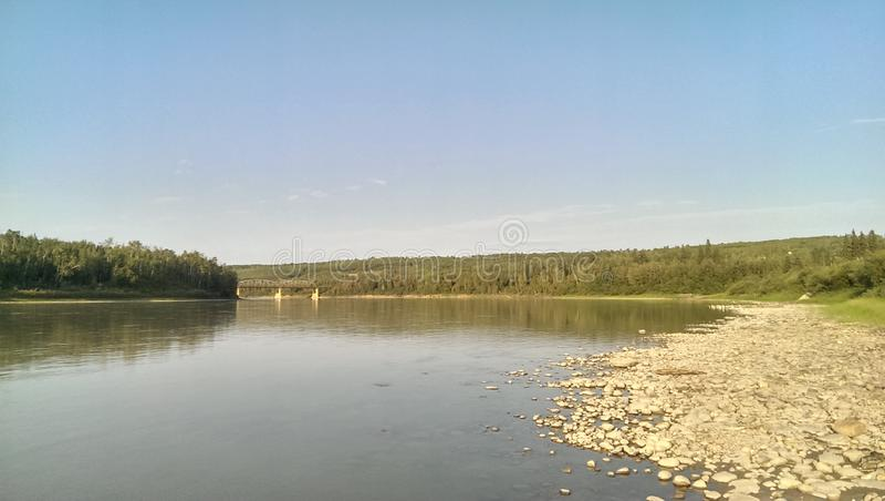 Rivière 5 d'Athabasca image stock