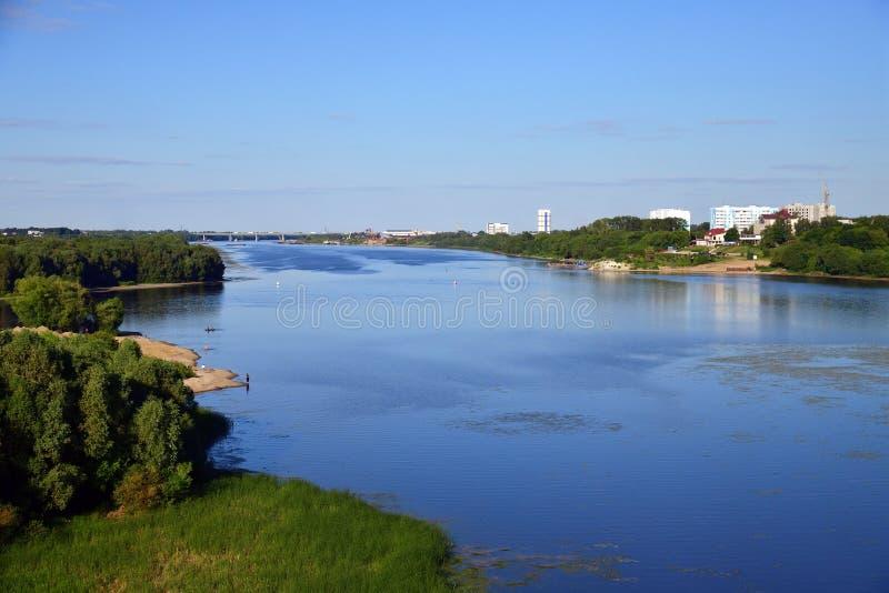 Rivière d'Oka au confluent de la rivière de Moskva, Russie photos stock