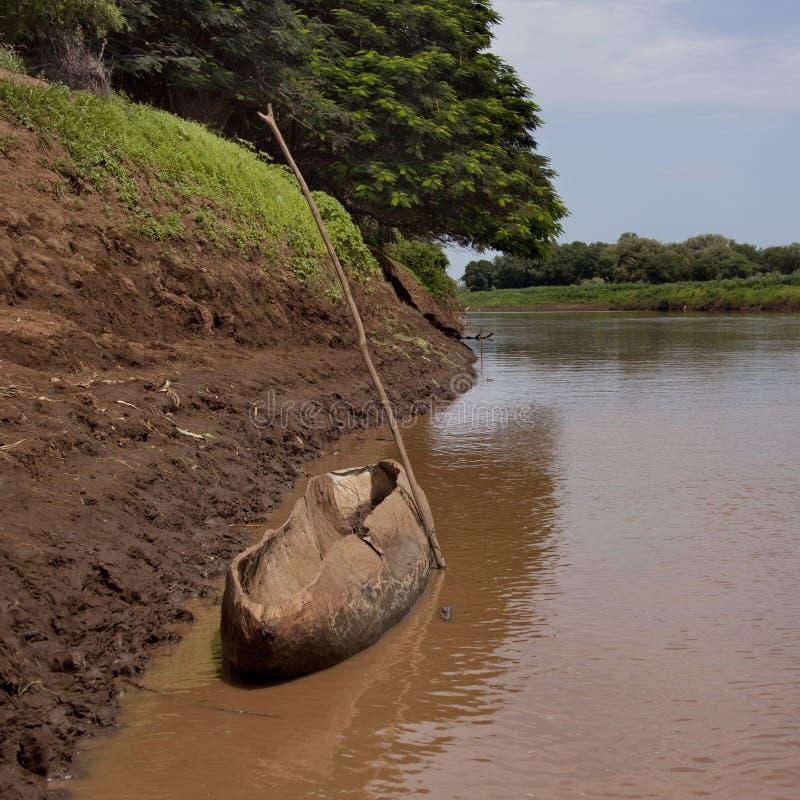 Rivière d'Omo images libres de droits