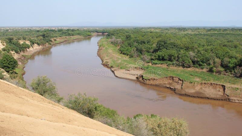 Rivière d'Omo, Ethiopie, Afrique photo stock