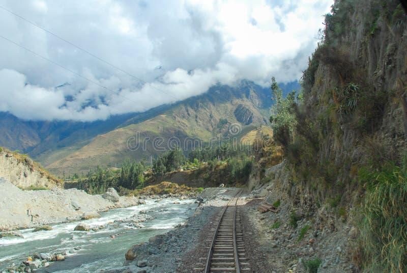 Rivière d'Urubamba près de Machu Picchu (Pérou) photo libre de droits