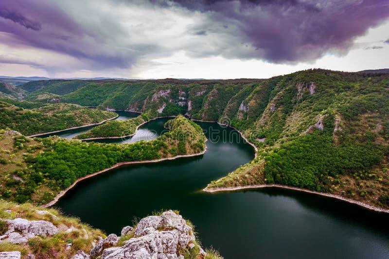 Rivière d'Uvac photos stock