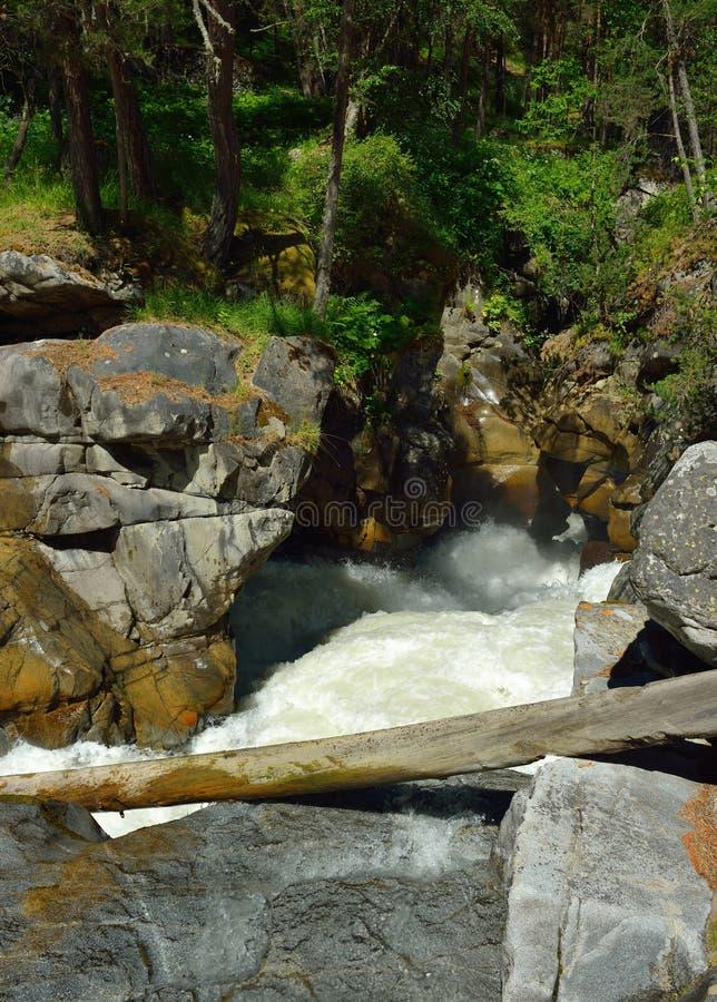 Rivière dans Caucase photo libre de droits
