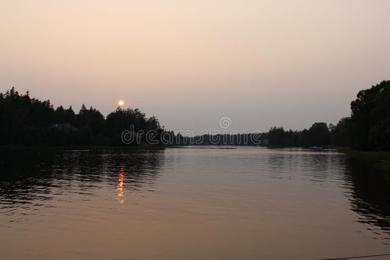 Rivière dans PEI photo libre de droits