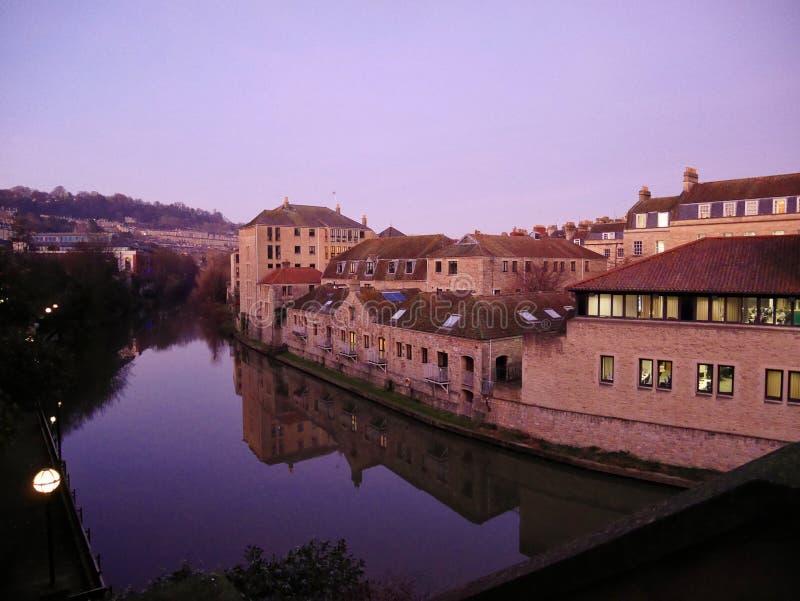 Rivière de Bath, BAIN, ANGLETERRE, R-U photos libres de droits