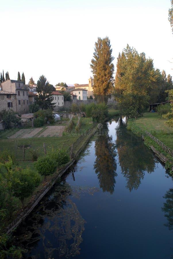 Rivière de Bevagna Topino image libre de droits
