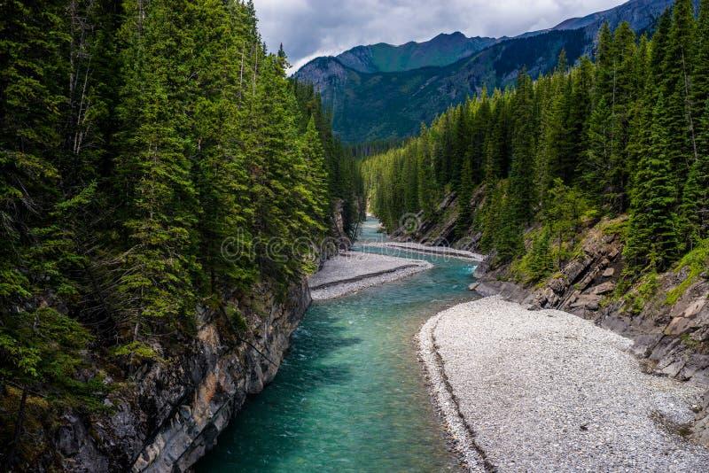 Rivière de cascade, canyon de Stewart photographie stock libre de droits