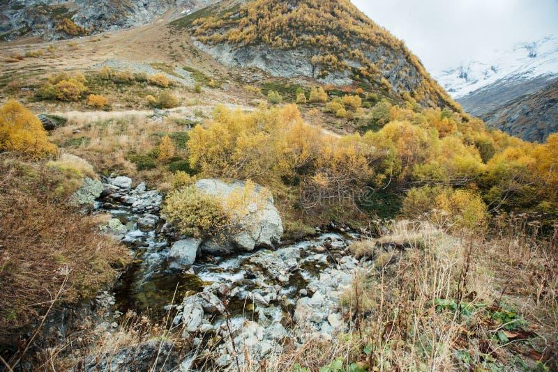 Rivière de Churchkhur à l'automne photographie stock libre de droits