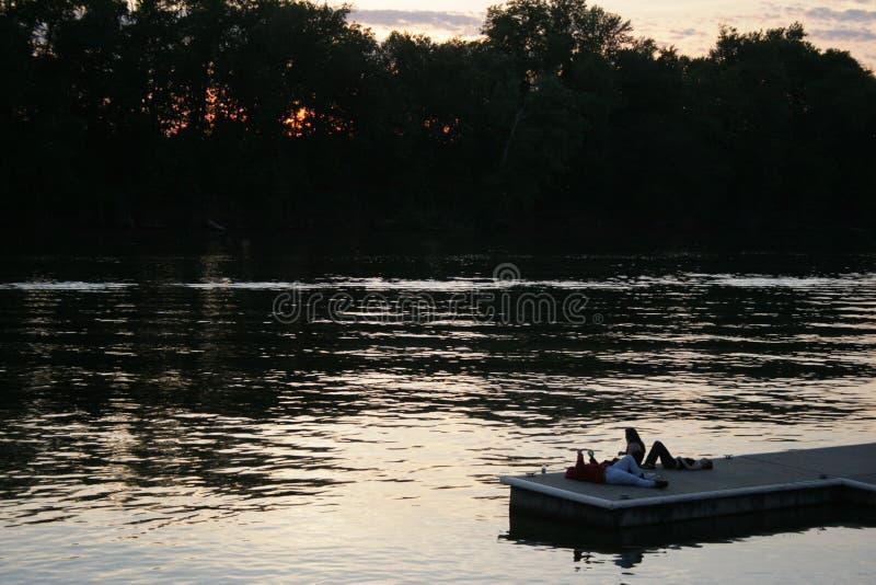 Rivière de Clarksville images stock