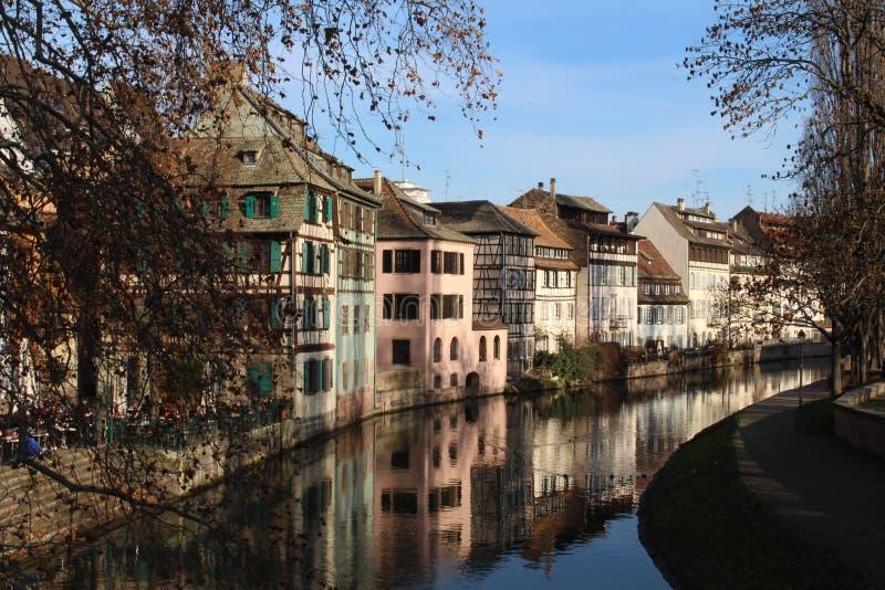 Rivière de défectuosité de Strasbourg images libres de droits