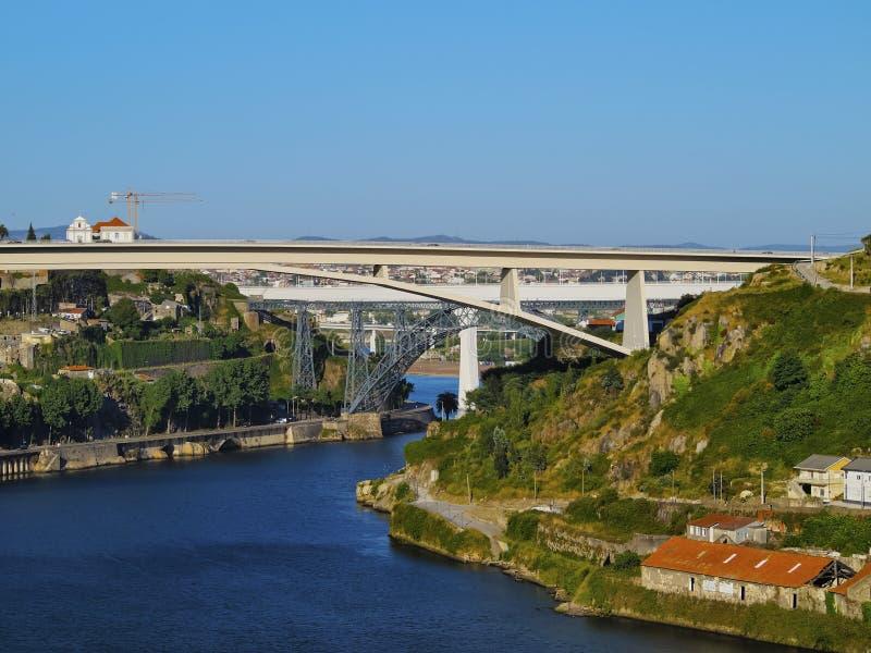 Rivière de Douro à Porto image libre de droits
