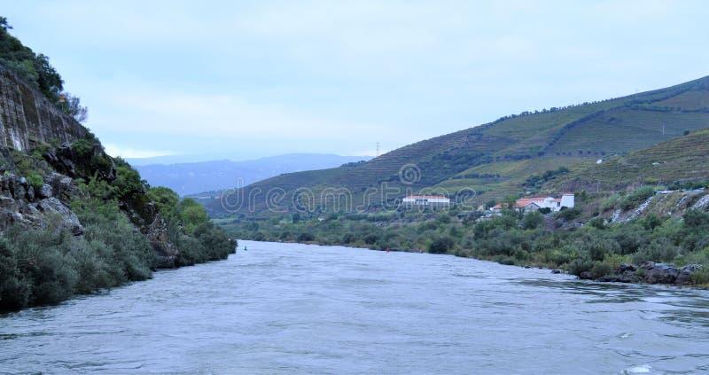 Rivière de Douro et le paysage photo stock