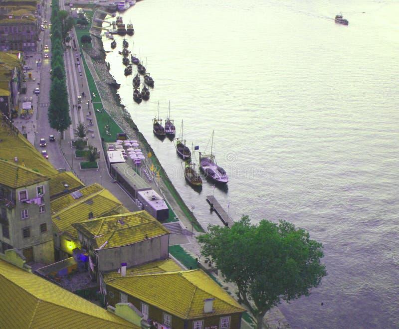 Rivière de Douro - Portugal - Vila Nova de Gaia photographie stock libre de droits