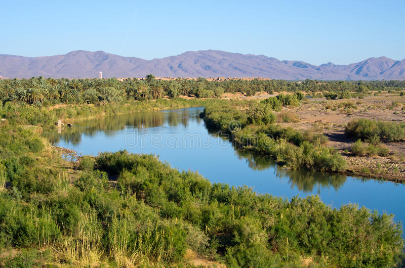 Rivière de Draa au Maroc photo stock