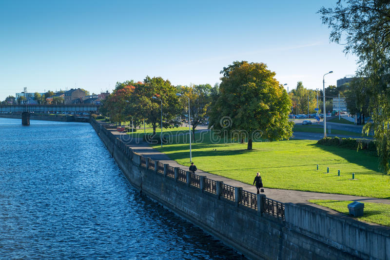 Rivière de dvina occidentale à Riga image stock