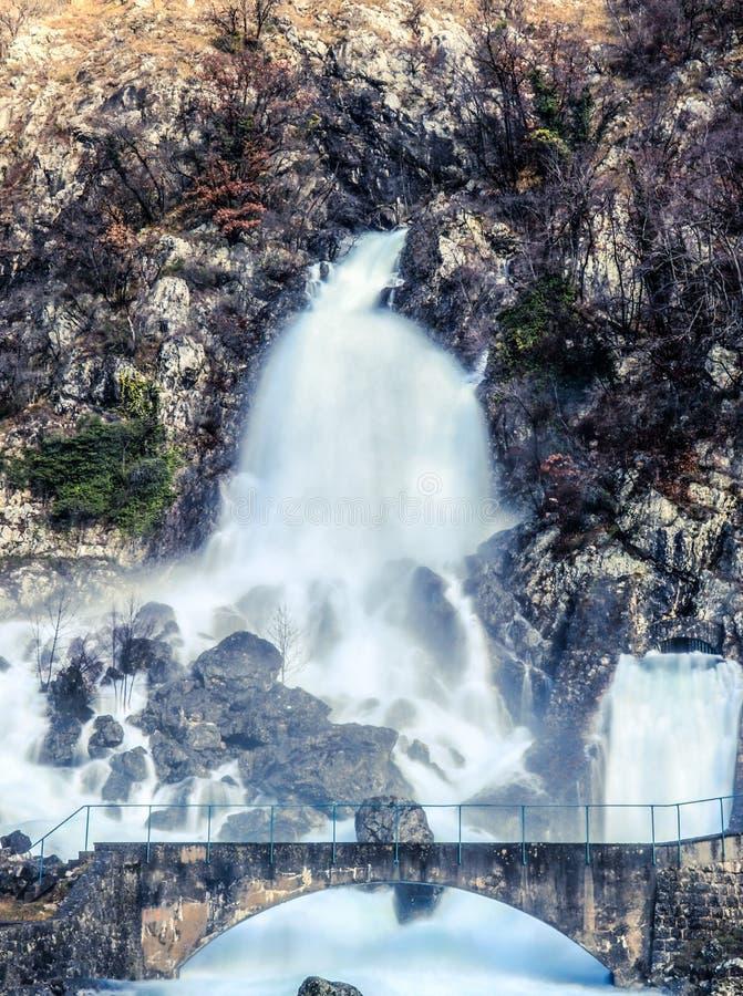 Rivière de Hubelj dans Ajdovscina, Slovénie image libre de droits