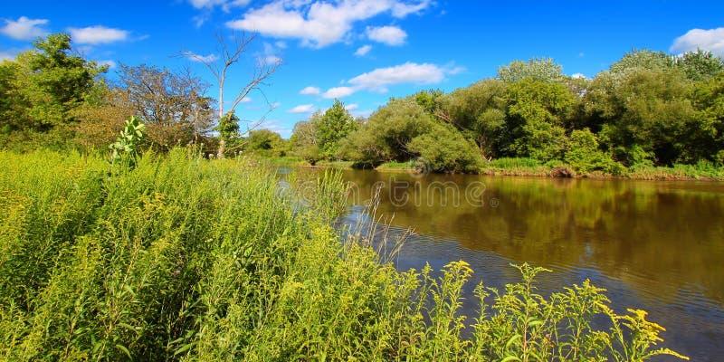 Rivière de Kishwaukee en Illinois du nord images libres de droits